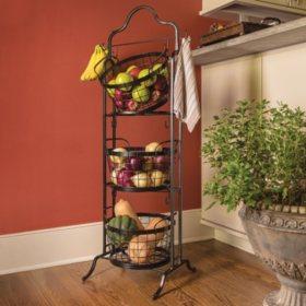 3-Tier Floor Stand Bushel Basket