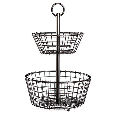 Two Tier Metal Storage Basket