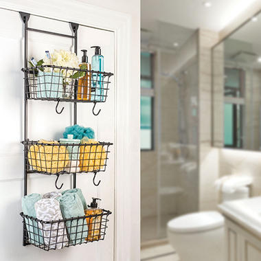 Over-the-Door Three-Basket Organizer