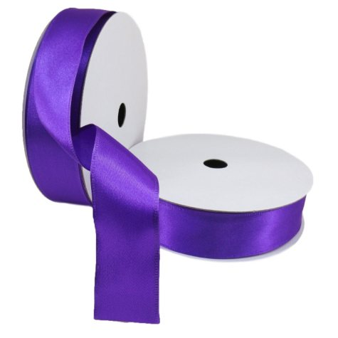 "2 Pack Premium Satin with Wire Ribbon - Purple (1.5"" x 50 yds. each 100 yds. total)"