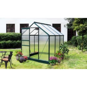6' x 6' Greenhouse with Metal Foundation Base