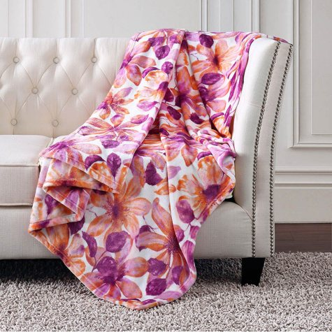 Christian Siriano Plush Throw (Assorted Colors)
