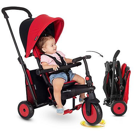 SmarTrike STR3 Plus Red Folding 6-in-1 Tricycle - 10 to 36 Months