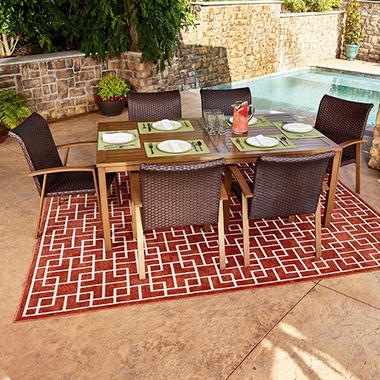 Modern 7 Piece Outdoor Dining Set