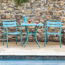 Commercial 3-Piece Bistro Set, Blue