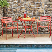 Commercial 3-Piece Bistro Set, Red