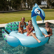 Giant Pool Float - Peacock