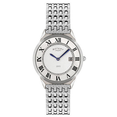 Rotary Men's Ultra Slim Stainless Steel Watch