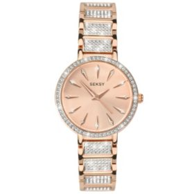 Seksy Aurora Rose Gold Plated Bracelet Watch