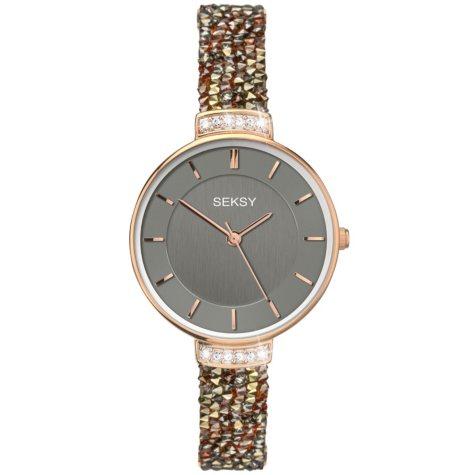 Seksy Rocks® Rose Gold Plated Bracelet Watch