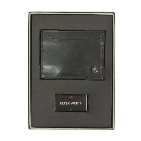 Peter Werth 100% Genuine Leather Card Holder and Money Clip
