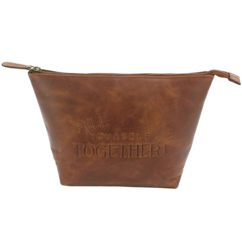 Ashby & Brant Pull Yourself Together Leather Wash Bag