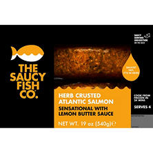 The Saucy Fish Co. Herb Crusted Salmon With Lemon Butter Sauce (19 oz.)
