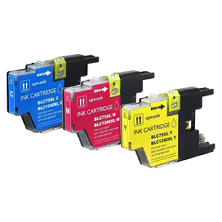 Brother LC75 Compatible Ink Cartridge, Cyan/Magenta/Yellow (3 pk., 600 Page Yield)