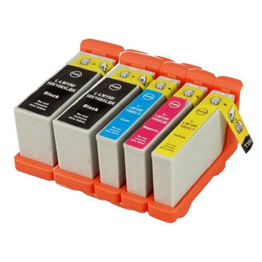 Lexmark 100XL Compatible Ink Cartridges, Combo Pack (5 pk.)