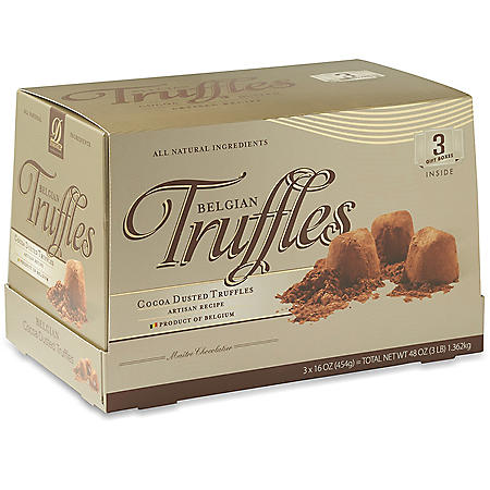 Donckels Cocoa Dusted Belgian Truffles (16 oz., 3 ct.)