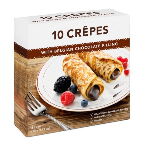 Creapan Crepes with Belgian Chocolate Filling (31.7 oz., 10 ct.)