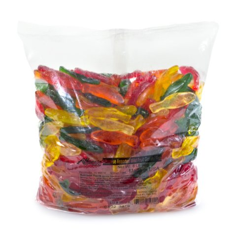 Albanese Assorted Fruit Gummi Fish (5 lbs.)