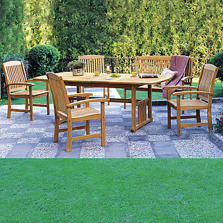 Sonoma Teak 6-Piece Extendable Dining Set