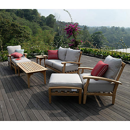 Sonoma Teak 7-Piece Deep Seating Set (Various Colors)