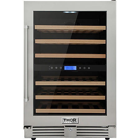 "Thor Kitchen 24"" 46-Bottle Dual Zone Indoor/Outdoor Wine Cooler"