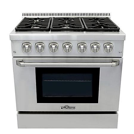 "Thor Kitchen Premium Series 36"" Freestanding Dual Fuel Range With Convection"