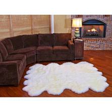 "100% Genuine Sheepskin Rug - 70"" x 86"""
