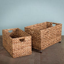 Hand-Woven Nesting Baskets, 2 Piece Set