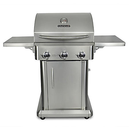 "Chef's Grill 24"" 3-Burner Stainless Steel Patio Gas Grill"