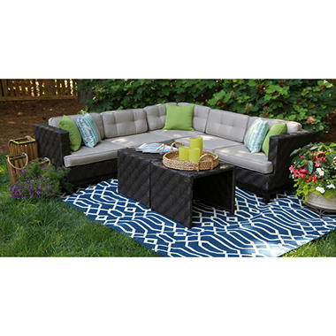 Canyon Outdoor Sectional With Premium Sunbrella Fabric Sam S Club