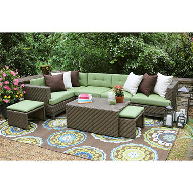 Hampton 8-Piece Sectonal with Sunbrella Fabric