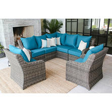 Cedar Grove 7 Piece Sectional Seating Group With Sunbrella Fabric, Assorted  Colors