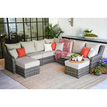 Cedar Grove 9-Piece Sectional with Choice of Premium Sunbrella Fabrics