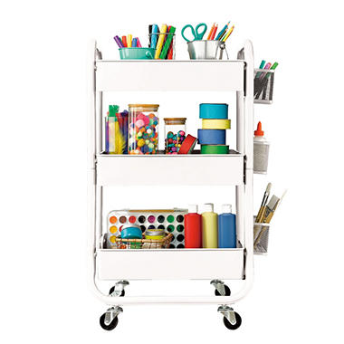 3 tier utility cart room essentials 3tier utility cart assorted colors sams club