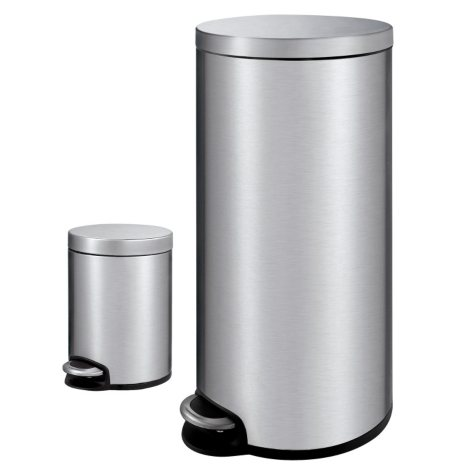 Member's Mark Stainless Steel Trash Can Combo (1.3 gal & 7.9 gal)