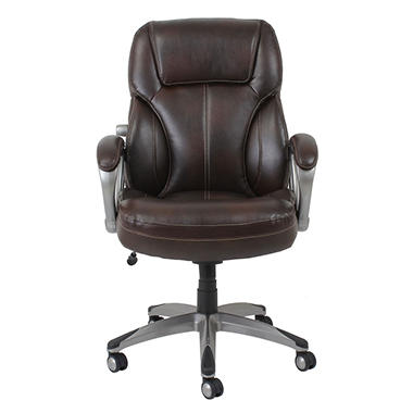 barcalounger big & tall executive chair, brown (supports up to 350