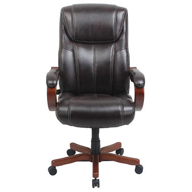 Barcalounger Executive Wood Big U0026 Tall Chair, Brown (Supports Up To 350 Lbs.