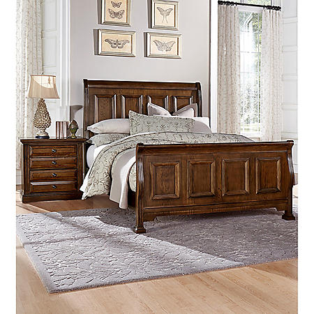 MANCHESTER K 2PC KG SLEIGH BED