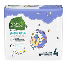Seventh Generation Free & Clear Overnight Diapers (Choose Your Size)