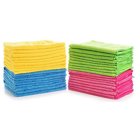 Hometex Microfiber Towels (36 pk., 4 colors)