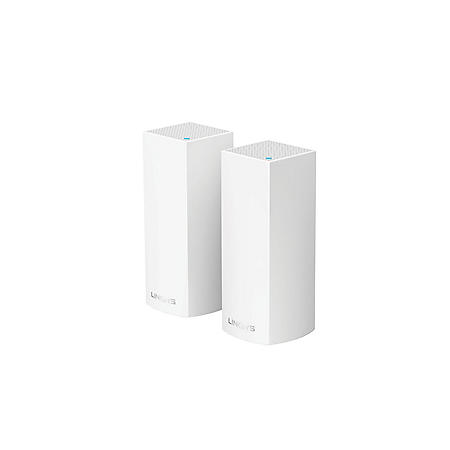 Linksys Velop AC4400 Intelligent Mesh Wi-Fi System, Tri-Band (2-Pack) - White