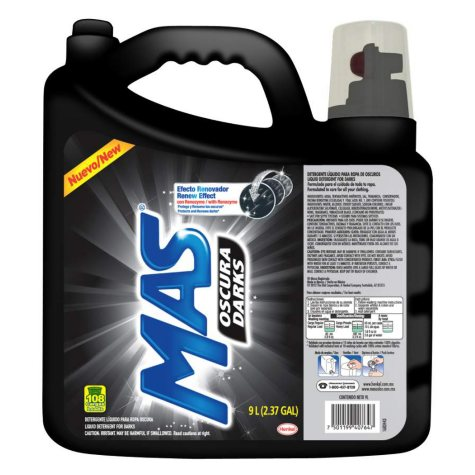 Mas Oscura Darks Liquid Laundry Detergent - 9 liters