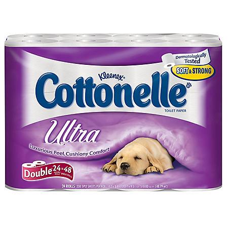 Cottonelle Ultra Toilet Paper 24 Ct Sam S Club