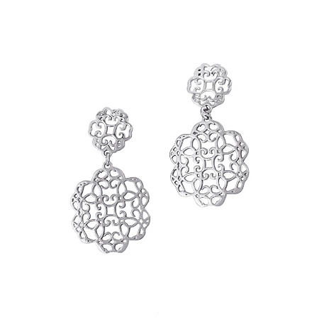 925 Sterling Silver Cuzan Flower Earrings