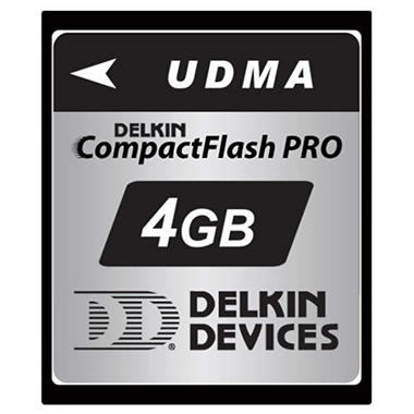 Delkin UDMA Compact Flash Pro Memory Card - 4GB