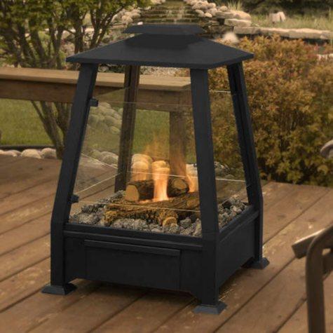Sierra Outdoor Fireplace - Black