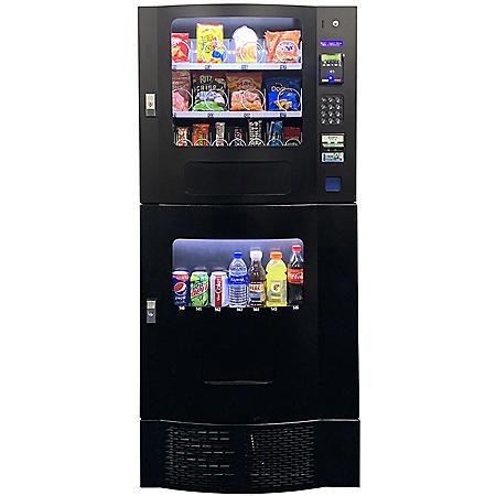 Seaga Compact Combination Vending Machine with Credit Card Reader (Choose Your Color)