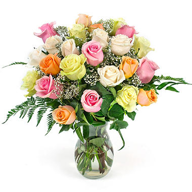 VARIANT Mixed Pastels Rose Bouquet (2 dozen)