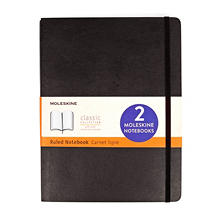 Moleskine 2-Pack Classic Black Notebooks