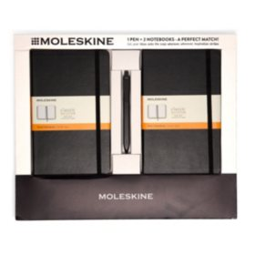 Moleskine 2 Classic Notebooks and Click Pen, Select Color